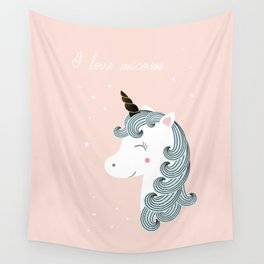 I love unicorns Wall Tapestry