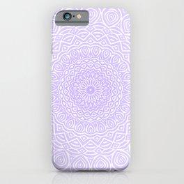 Purple Violet Mandala Design Extra Detailed Geometric Ethnic Tribal Pattern iPhone Case