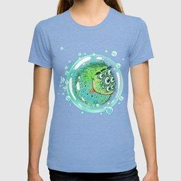 Bacillus B0b on bubble-transport T-shirt
