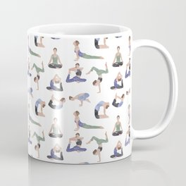 Yoga repeat pattern Coffee Mug