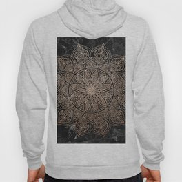 Mandala - rose gold and black marble 4 Hoody