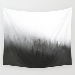 Foggy Pines on Berthoud Pass Wall Tapestry