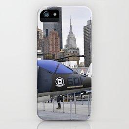 A British Harrier Jet in New York iPhone Case