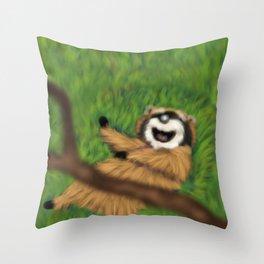 Raccoon Series: Oops! Throw Pillow