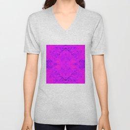 flame pattern, violet Unisex V-Neck