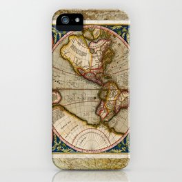 Western Hemisphere Michael Mercator America iPhone Case