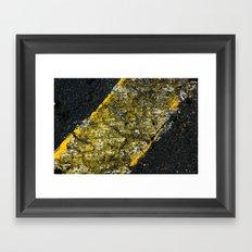asphalt 3 Framed Art Print