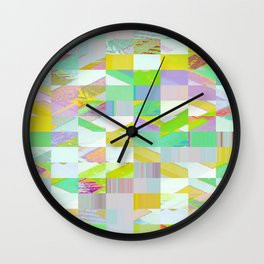 Pixel Dust Muted colors Wall Clock