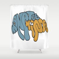 manatee Shower Curtains featuring Manatee Kisses by Katie Duker