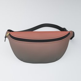 Pantone Living Coral & Beluga Gray Gradient Ombre Blend, Soft Horizontal Line Fanny Pack