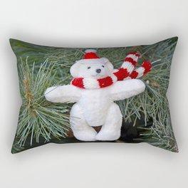 White christmas bear Rectangular Pillow