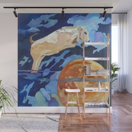 The Cow Jumped Over the Moon Wall Mural