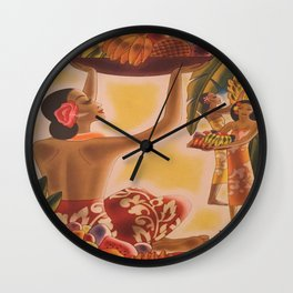 Luau! Vintage Hawaii Wall Clock