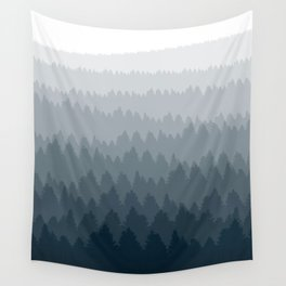 Blue Ombré Forest Wall Tapestry