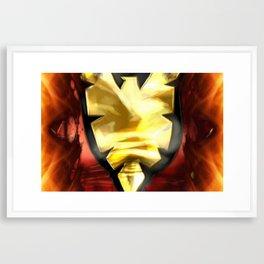 365 days of superheroes - Day 6: Dark Phoenix from X-Men  Framed Art Print