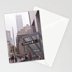 lost down-town... Stationery Cards