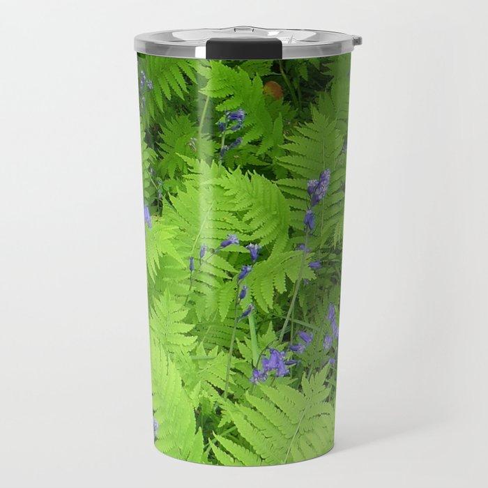 Bluebells and Ferns Travel Mug
