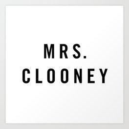 Mrs. Clooney Art Print