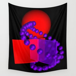 spheres and boxes -01- Wall Tapestry