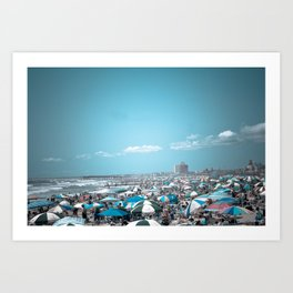 Jersey Shore Blue Beach Art Coastal Seaside Photograph Art Print