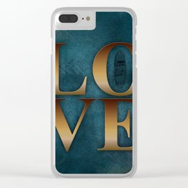 Love gold Clear iPhone Case