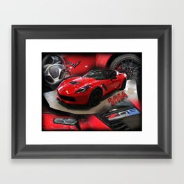 2016 corvette Z06 Framed Art Print