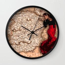 bailarína de flamenco Wall Clock