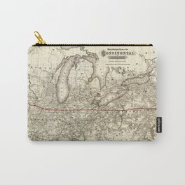 Map of the Continental Railroad Route (1873) Carry-All Pouch