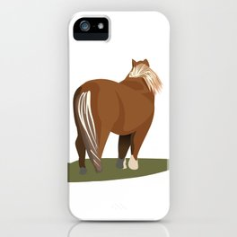 Miniature Pony, New Forest iPhone Case