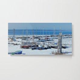 Sailboats in Winter Metal Print