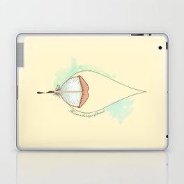 The pen is the tongue of the soul Laptop & iPad Skin