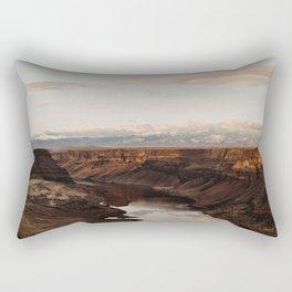 Snake River, Idaho - Scenic Desert Canyon Rectangular Pillow