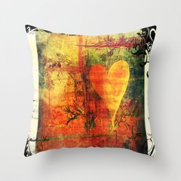 Warm hearted. Throw Pillow