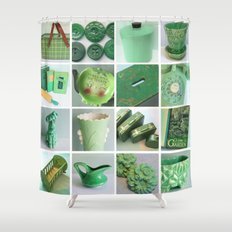 Going Green Shower Curtain