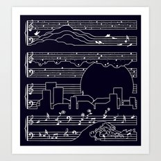 The Moonlight Sonata Art Print