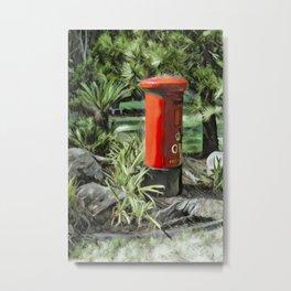 King George VI Red Post Box Metal Print