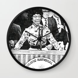 Black Vintage Art - 1st Black Woman In Congress - Shirley Chisholm 8768 Wall Clock
