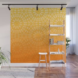 Orange & Yellow Islamic Geometrical Pattern Wall Mural