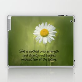 She is Clothed With Strength Laptop & iPad Skin