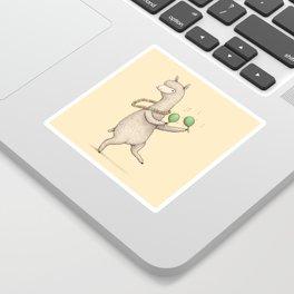 Alpaca on Maracas Sticker