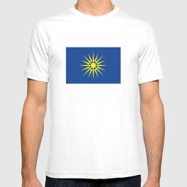 Greek Macedonia ethnic flag T-shirt