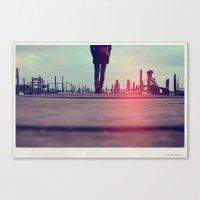 kieren walker Canvas Prints featuring walker by crisismasiva
