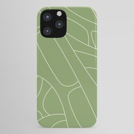 Abstract Lines 3 green  iPhone Case