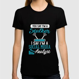Internet Social Computer Network Social Media Manager T-shirt