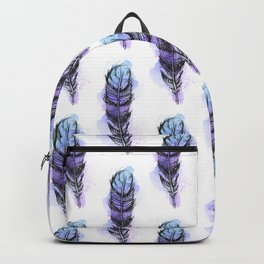 AP089 Watercolor feather Backpack