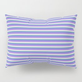 Purple, Light Gray, and Blue Colored Lined Pattern Pillow Sham