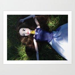 Retrato de una princesa A Princess Portrait Art Print