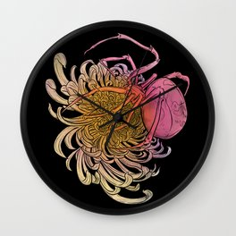 Chrysanthemum & Spider Wall Clock