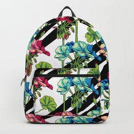 Flowers & Strips Backpack