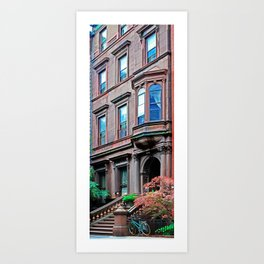 Brooklyn Heights Architecture and Bike Art Print